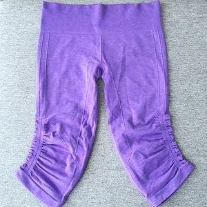 Lululemon In The Flow Crop, Power Purple, Size 8